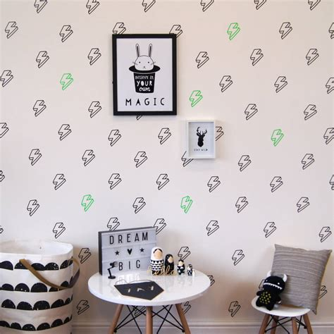 lightning bolt wall stickers by parkins interiors