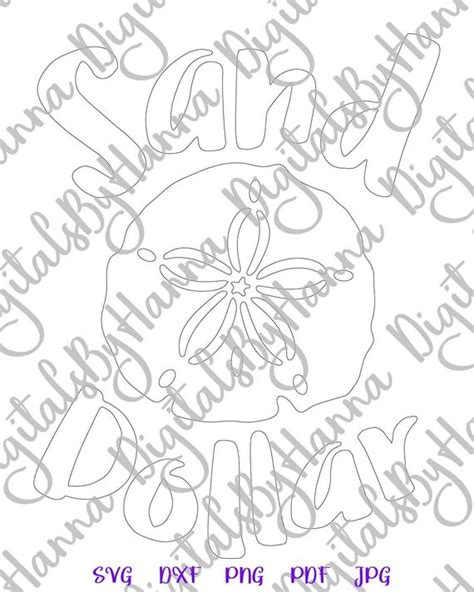 Find & download free graphic resources for svg. Beach SVG Files for Cricut Sand Dollar Clip Art Sea ...