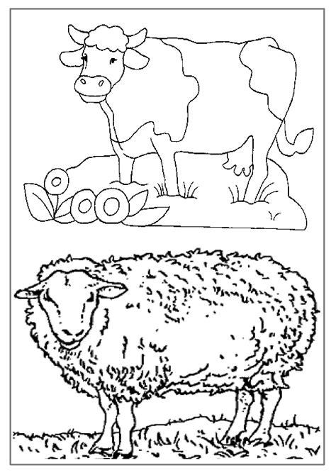 coloriages educatifsdessin animaux de la ferme  colorier