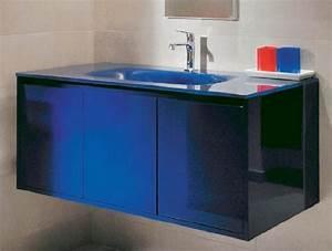 Meuble de salle de bain bleu CEDEO (photo 7/15) Avec une