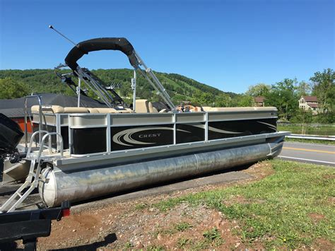 Crest Pontoon Boats For Sale by Used Crest Pontoon Boats For Sale Boats