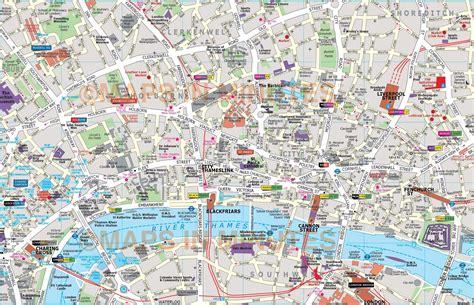 map london city major tourist attractions