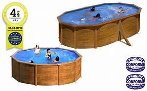 Piscine Hors Sol Acier Imitation Bois : kit piscine gr h120 ou h132 mod le aspect bois pas cher ~ Dailycaller-alerts.com Idées de Décoration