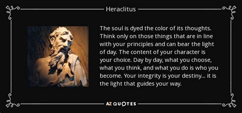 heraclitus quote  soul  dyed  color   thoughts