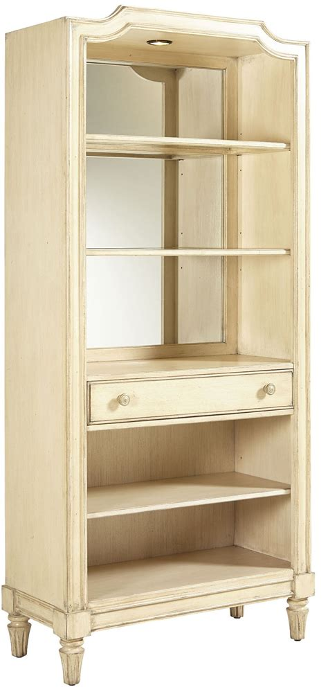 European Cottage Vintage White Bookcase From Stanley (007