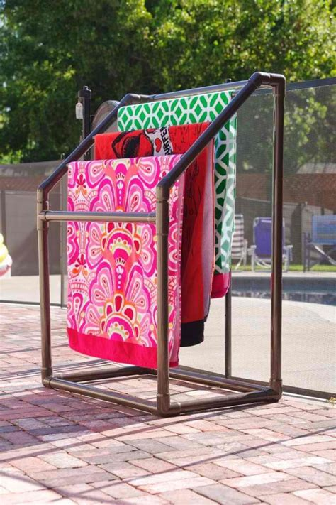 outdoor towel rack diy towel rack solutions for your houston pool elite
