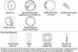 Defi Link Meter Advance Cr Gauge Tachometer 60mm - Jdmdistro