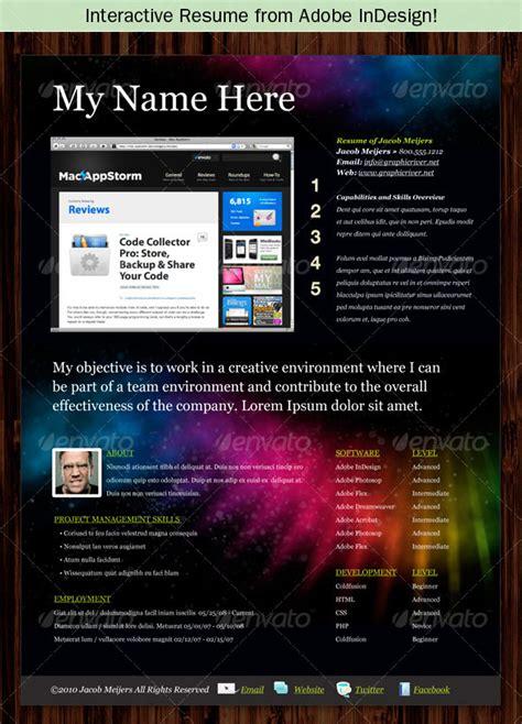 photoshop indesign cvresume templates photoshop