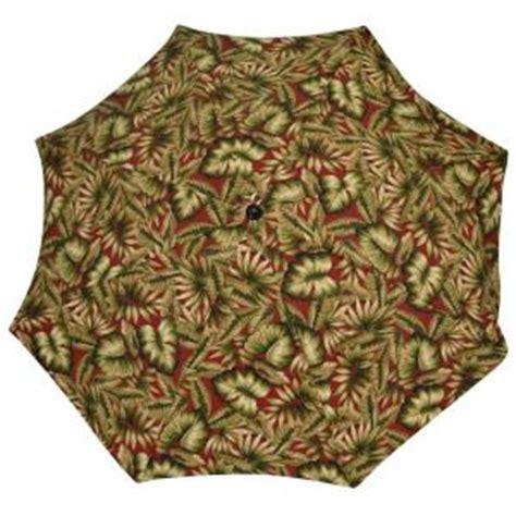 plantation patterns 7 1 2 ft patio umbrella in chili