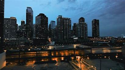 Chicago Nightfall Cinemagraph Giphy Gifs Everything Coub
