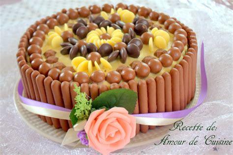 gateau danniversaire facile aux bonbons chocolat amour