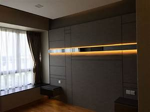 Bedhead Feature Wall With Led Strip Light Inside Strips ...