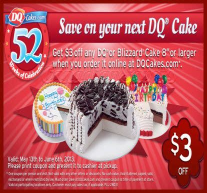 05236 Dairy Coupons Canada Printable by Dairy Coupon 3 Dq Or Blizzard Cake