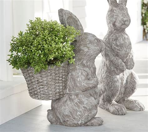 Indoor/Outdoor Bunny Planter   Pottery Barn