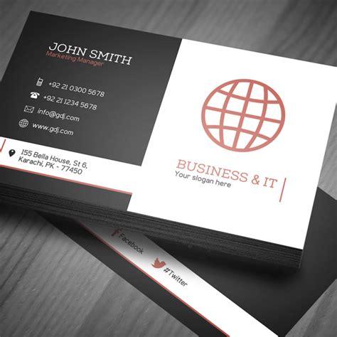 corporate business card template psd freebies