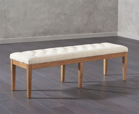 Fabric Bench by Fabric Beige 150cm Dining Bench Efurnitureuk