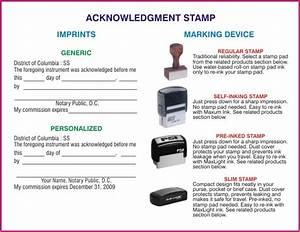 acknowledgment stamp With document certification stamp