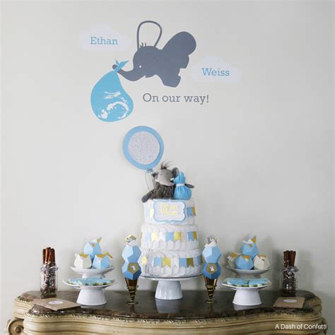 baby shower ideas for to be geometric elephant themed baby shower