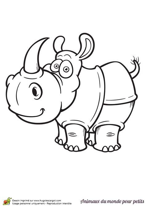corne cuisine coloriage le rhinocéros a envie de jouer hugolescargot com