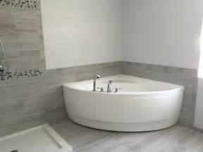 Corner Showers Kits by Aquatica Olivia Wht Small Corner Acrylic Bathtub