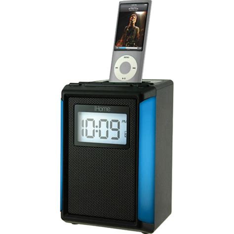 iphone clock radio ihome ip40 fm alarm clock radio for iphone or ipod black