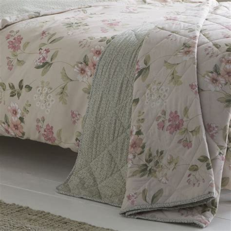 lorena floral quilted bedspread blush pink tonys