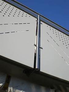 balkonverkleidung edelstahl lochblech metallteile verbinden With garten planen mit lochbleche aluminium für balkone