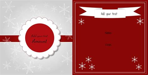 christmas gift certificate template customize