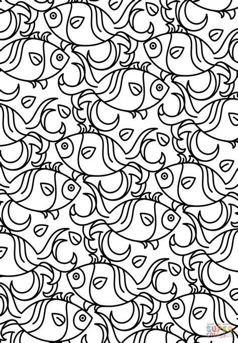 pattern coloring pages fish pattern coloring page free printable coloring pages