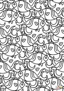 Fish Pattern coloring page | Free Printable Coloring Pages