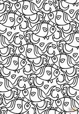 Coloring Pages Pattern Printable Fish Aztec Adults Adult Detailed Getcolorings Puzzle Colorings Getdrawings Dot Crafts Drawing Mask Awesome sketch template