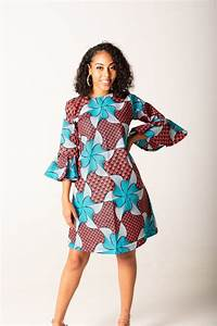 Womens Size Chart Mandisa Long Sleeves Shift Dress African Wear Dresses