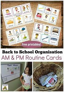 Morning Routine Printable Chart Back To School Routines Free Printable Cards To Make It