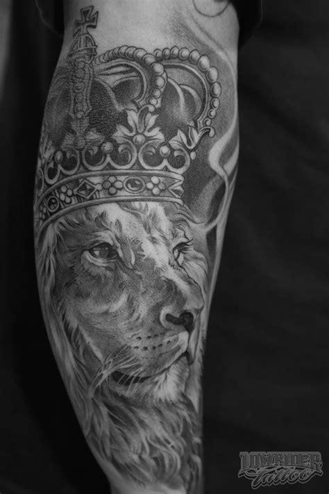 King Of Kings Lion Tattoo on Arm | Best Tattoo Ideas Gallery