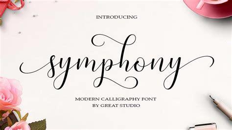symphony script  font pinspiry