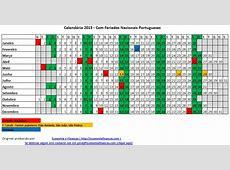 Calendário 2015 para impressão em Excel – Portugal versão