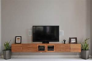 Floating Media Console A Way To Display Your TV With