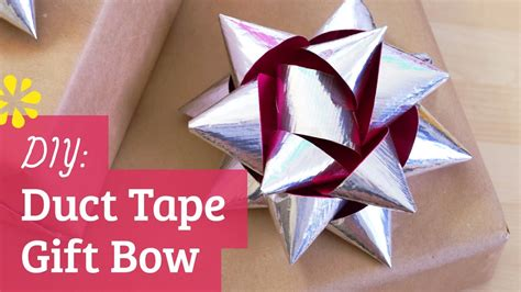 how to make a bow for a present diy duct tape gift bow sea lemon youtube