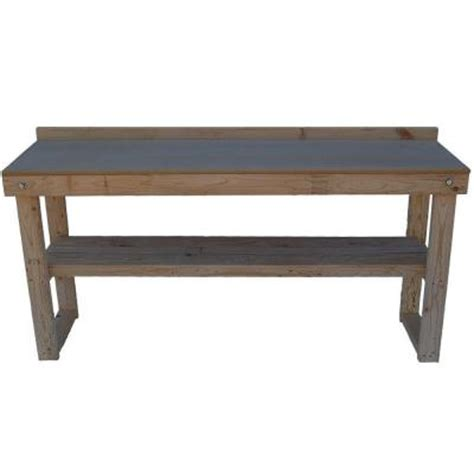 folding wood table home depot fold out wood workbench common 72 in actual 20 0 in