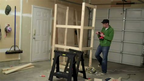 Build A Workshop Closet by How To Build A Garage Cabinet In 2 Minutes