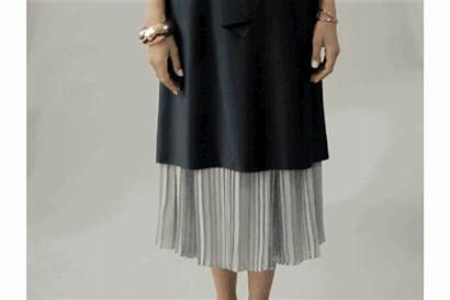 Skirt Under Pull Wearing Pleated Underneath Silk