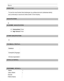 basic resume format for freshers pdf download 28 resume templates for freshers free sles exles formats download free premium