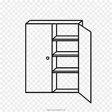 Armoire Coloring Shelf Drawing Template Kisspng Cleanpng sketch template