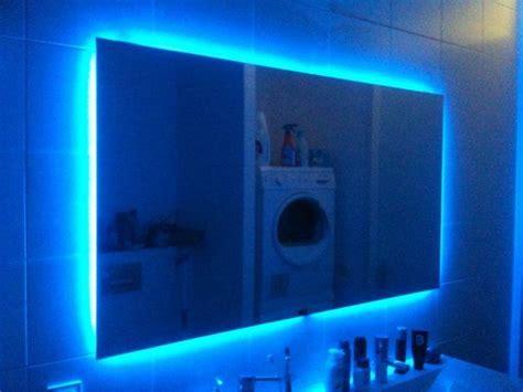 led lights behind bathroom mirror led mirror sports anti fog element
