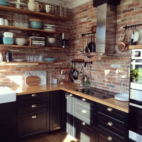 Brick Kitchen Cupboards by 77 Creative Exposed Brick Kitchen Ideas Kitchen