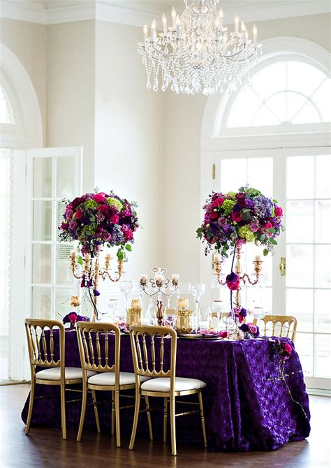 southern wedding purple linens