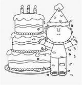 Confetti Birthday Happy Clipart Coloring Boy Clipartkey sketch template