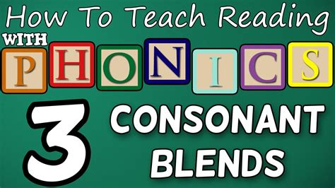 How To Teach Reading With Phonics  312  2 & 3 Letter Consonant Blends  Learn English Phonics