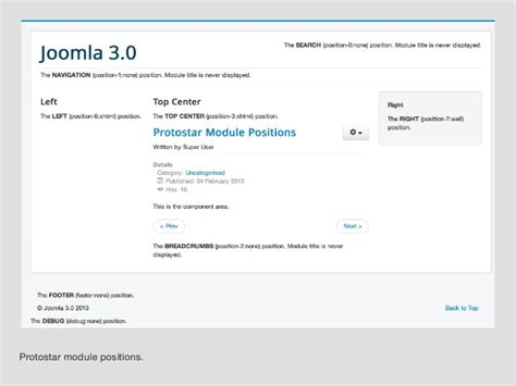 A Guide For Joomla 3's Protostar Template