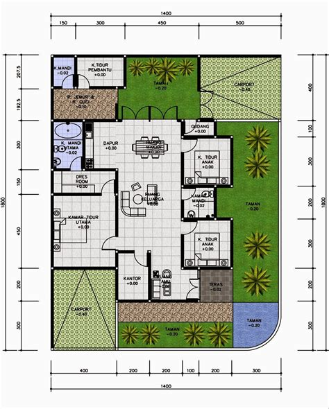 desain rumah  kamar tidur  lantai